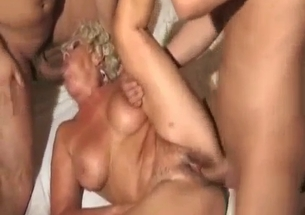 Mom with massive boobs gets impaled by her lusty sons