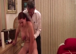 Father touches big boobs of his stepdaughter