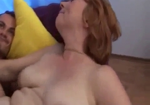 Mom with fat hairy cunt gets bangs with a son