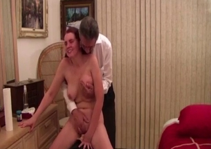 Daddy is playing with his lustful busty daughter