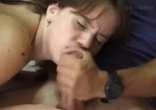 My lustful sister knows how to suck my hard prick