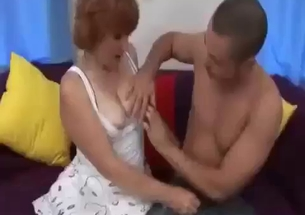 Sticking my hard cock in mother's tight mouth